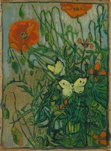 Butterflies and Poppies Saint-Rémy-de-Provence, May-June 1889, Vincent van Gogh (1853 - 1890) Van Gogh Museum, Amsterdam (Vincent van Gogh Foundation)