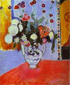 Vase with two handels, a bunch of flowers by Henry Matisse, 1907, Hermitage, St Petersburg, Russia