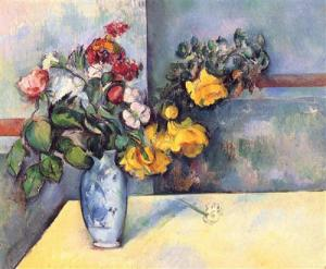 Still life flowers in a vase, Paul Cézanne, 1888, Private Collection
