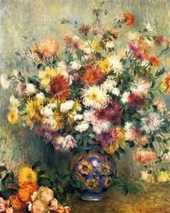 Vase of Chrysanthemums, 1880-1882, Pierre-Auguste Renoir, Private Collection
