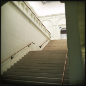 Staircase in old building Stedelijk Museum Amsterdam