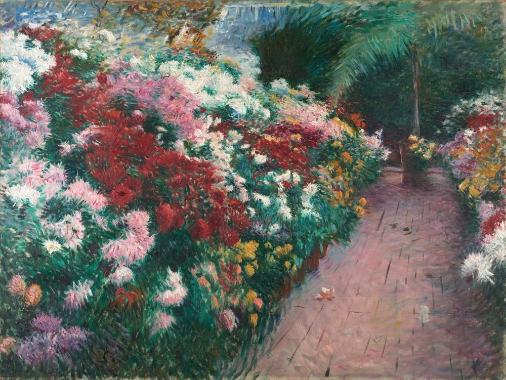 Dennis Miller Bunker, Chrysanthemums, 1888
