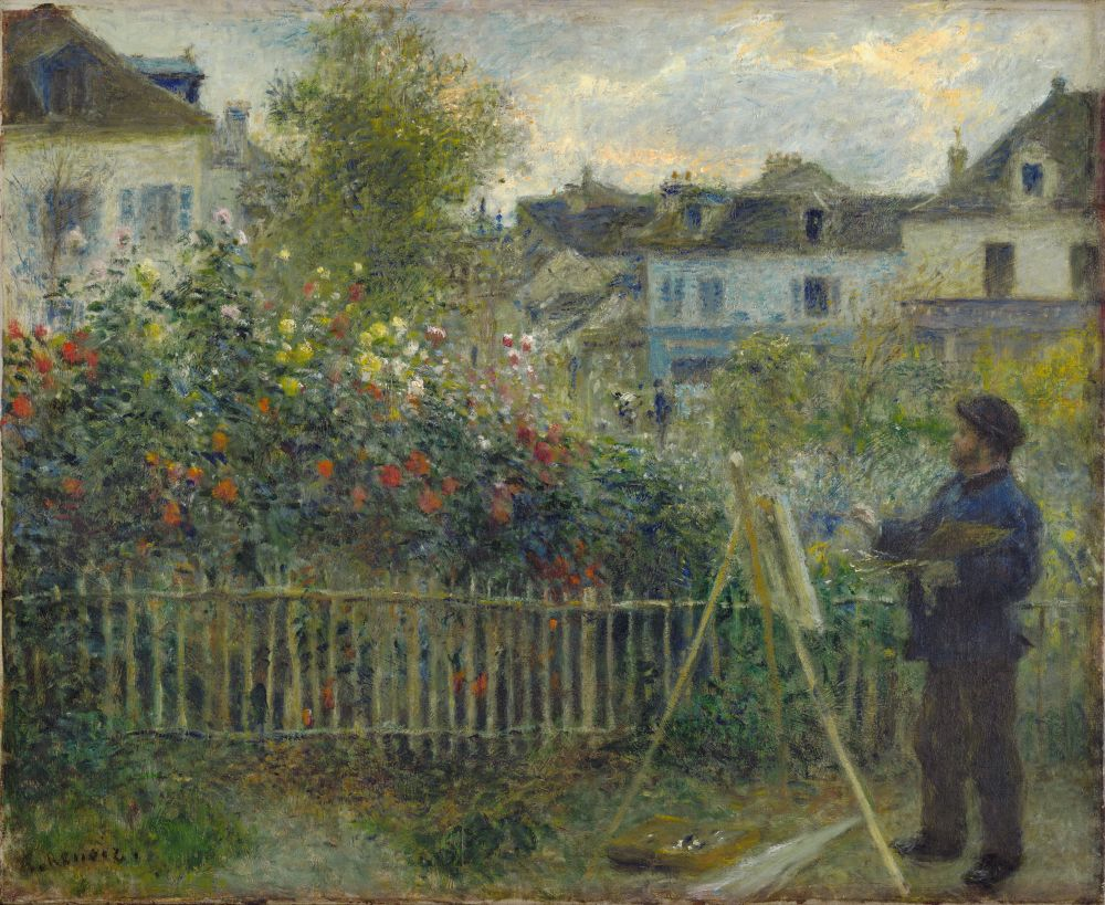 Monet Painting in His Garden at Argenteuil, 1873. Pierre-Auguste Renoir (French, 1841–1919). Oil on canvas; 46.7 x 59.7 cm. Wadsworth Atheneum Museum of Art, Hartford, C