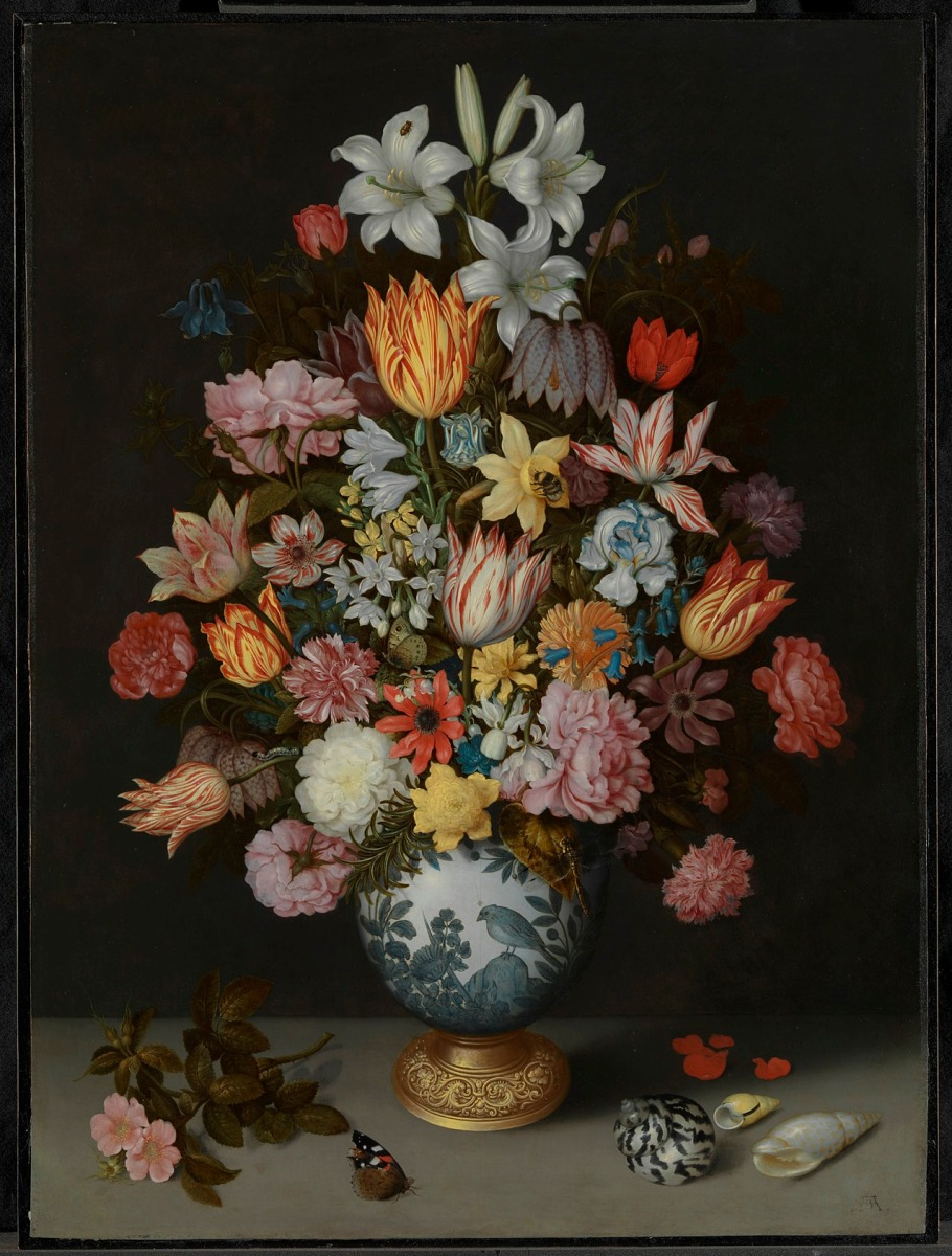 Dutch flowers in The National Gallery