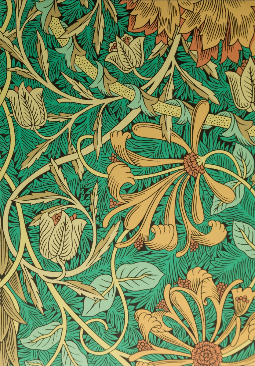 Flower patterns by William Morris